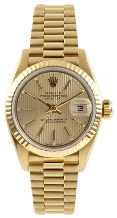Rolex Rolex DateJust 18K Yellow Gold Tapestry Dial Ladies Presidential Watch