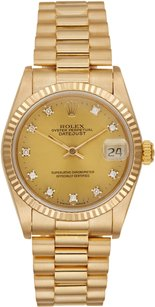 Rolex Rolex Datejust 18K Yellow Gold Custom Diamond Unisex Presidential Watch
