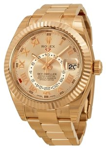 Rolex Rolex Sky Dweller Sundust Dial 18kt Everose Gold Men's Watch 326935