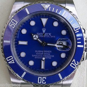 Rolex Rolex Submariner 116610 stainless steel. Custom Blue dial & ceramic bezel.