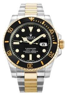 Rolex ROLEX SUBMARINER STAINLESS STEEL AND YELLOW GOLD MEN'S WATCH