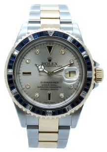 Rolex Rolex Submariner 16613 Two-Tone Custom Diamond Dial & Bezel Men's Watch