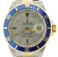 Rolex Rolex Submariner 2tone 18k Goldstainless Steel Sub Factory Silver Serti Diamond