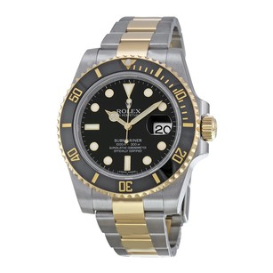 Rolex Rolex Submariner Black Index Dial Stainless Steel and 18kt Yellow Gold Oyster Bracelet Men's Watch 116613BKSO