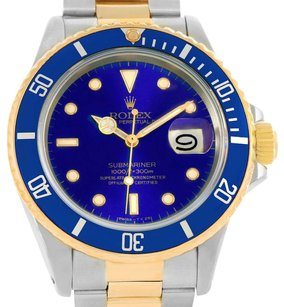 Rolex Rolex Submariner Steel 18K Yellow Gold Blue Dial Watch 16803