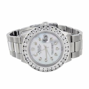 Rolex Date Just I Rolex Diamond Watch Mens Stainless Steel Mm Carats