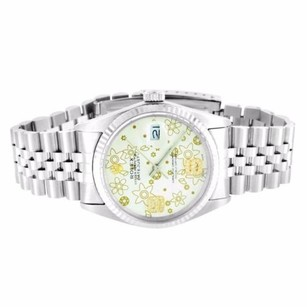 Rolex Date Just I Rolex Watch 36mm Stainless Steel Mens Flower Diamond Dial