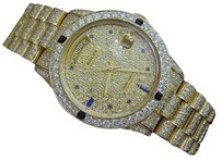 Rolex Mens Rolex Day-date President 18k Yellow Gold W13.4ct Diamondssapphires 18038