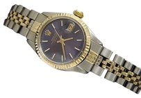 Rolex Rolex Date Ladies 2tone 14k Gold Stainless Steel Watch Jubilee Blue Dial 6917