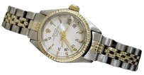 Rolex Vintage Rolex Date Lady 2tone 14k Yellow Gold Steel Watch White Roman Dial 6517