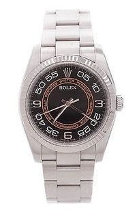 Rolex Rolex Stainless Steel Oyster Perpetual Automatic Mens Watch