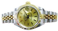 Rolex Ladies Rolex Oyster Perpetual Datejust Ref 69173 Yellow Gold Steel Watch C.1991