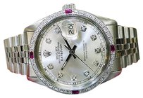 Rolex Mens Rolex Oyster Perpetual Datejust Diamond Stainless Steel Diamond Watch