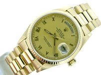 Rolex Mens Rolex Day-date President 18k 18kt Yellow Gold Watch Wgold Roman Dial 18038