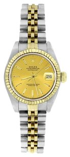 Rolex ROLEX Women's Datejust Two-tone Champagne Stick Dial Watch 6917