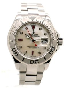 Rolex Rolex Yacht-master 16622 Steel Platinum Bezel MOP Diamond Dial Men's Watch