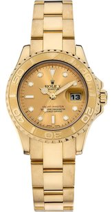 Rolex Rolex Yachtmaster 18K Yellow Gold Champange Dial Ladies Watch