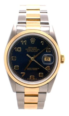 Rolex Rolex Datejust 18K Yellow Gold and Stainless Steel Blue Dial Men's Watch.