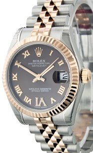 Rolex UNWORN Rolex 178271 Lady 18K Rose Gold Chocolate Diamond Watch