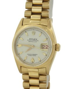 Rolex Vintage Rolex Datejust 6605 Solid 18k Gold President Band 36mm Watch