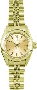 Rolex Vintage Rolex Ladies Oyster Perpetual 18k Yellow Gold Watch 6718