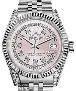 Rolex Womans Rolex 26mm Datejustss Pink String Diamond Dial With Vintage Style Marker