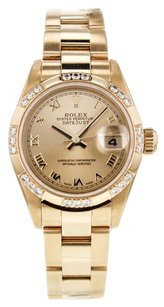 Rolex Women's DateJust 79138 26mm Watch in 18k Yellow Gold with Factory Diamond Bezel RLXLDJY4