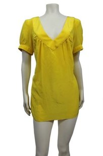 Rory Beca short dress Yellow Tunic Silk Gabrielle V Neck on Tradesy