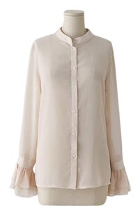 Rosepepper 100% Cotton Ruffled Vintage Top Apricot