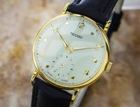 Rotary Watches Very Rotary 9k Solid Gold Swiss Made Vintage Classic Watch For Men 40s L163