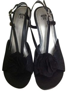Route 66 Black Wedges