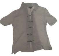 Rozae Nichols Silk Sheer Top Grey