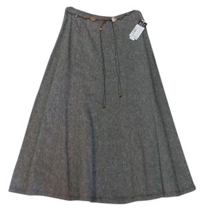 RQT Tweed A-line New Skirt BLACK