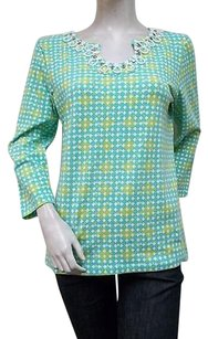 Ruby Rd. Aqua Multi Patio Tunic