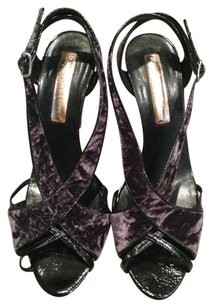 Rupert Sanderson Black & Purple Sandals