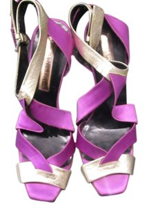 Rupert Sanderson Purple/Gold Pumps