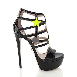 Ruthie Davis Faithful Black / Multi-Color Platforms