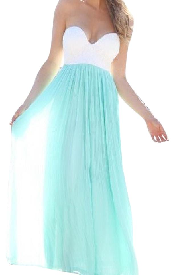 sabo skirt mint green and white tea casual maxi dress