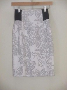 Sachin + Babi Cut Skirt black White