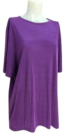 well-wreapped Sag Harbor Purple Short-sleeved Knit Top Womens 1x