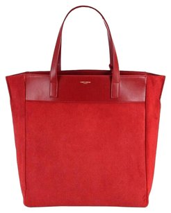Saint Laurent Calfskin Reversible Tote in Red