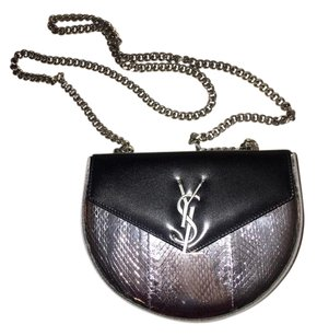 Saint Laurent Metallic Chain Ysl Cross Body Bag