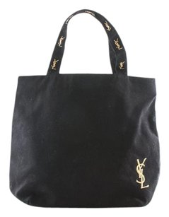 Saint Laurent Ysl Ysl Ysl Shopper Tote in Black