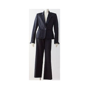 Saint Laurent Ysl Yves Saint Laurent Black Red Wool W Velvet Pinstripe Pant Suit Hs2211