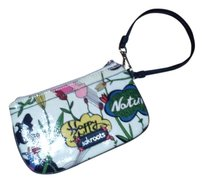 Sakroots Peace Love Harmony Wristlet in cream, multi color.