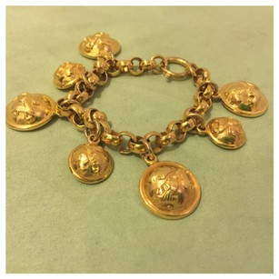 Salvatore Ferragamo Authentic Salvatore Ferragamo Vintage Goldtone Chain Bracelet