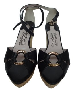 Salvatore Ferragamo Ferragmo Black Wedges