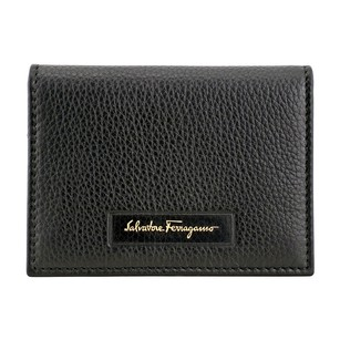 Salvatore Ferragamo Leather Card Case - Black 66-0289BK