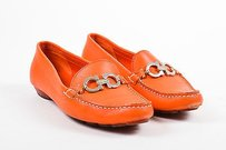Salvatore Ferragamo Orange Flats