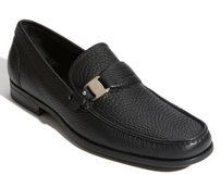 Salvatore Ferragamo Salvatore Ferragamo Bravo Moccasin Loafer Pebbled Leather Mens Shoes